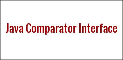 Java Comparator