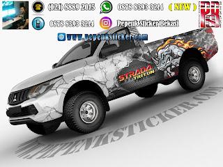 Sticker mobil triton badak