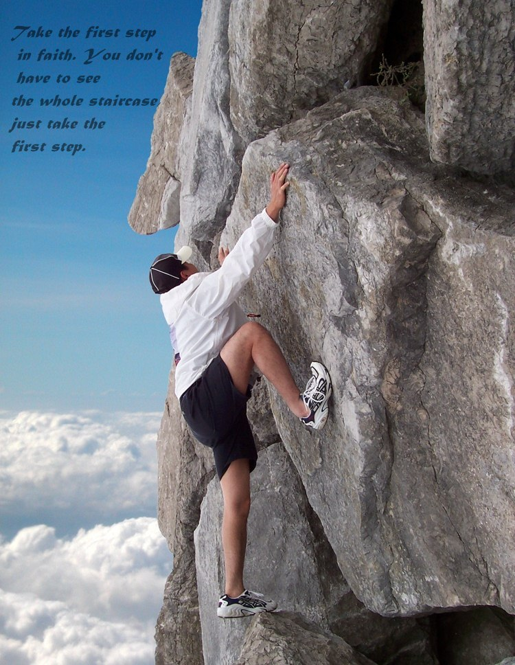 First Step To Success: Dont Quit.Do It !: Take The First Step In Faith. You Don't