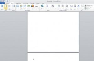Cara membuat halaman gres ms word