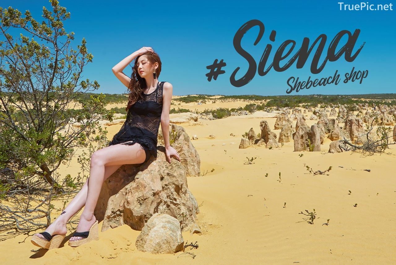 Korean fashion model Lee Chae Eun - Siena Beachwear Set Collection - TruePic.net - Picture 4