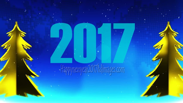 New Year 2017 HD Pictures With Sparkling Background
