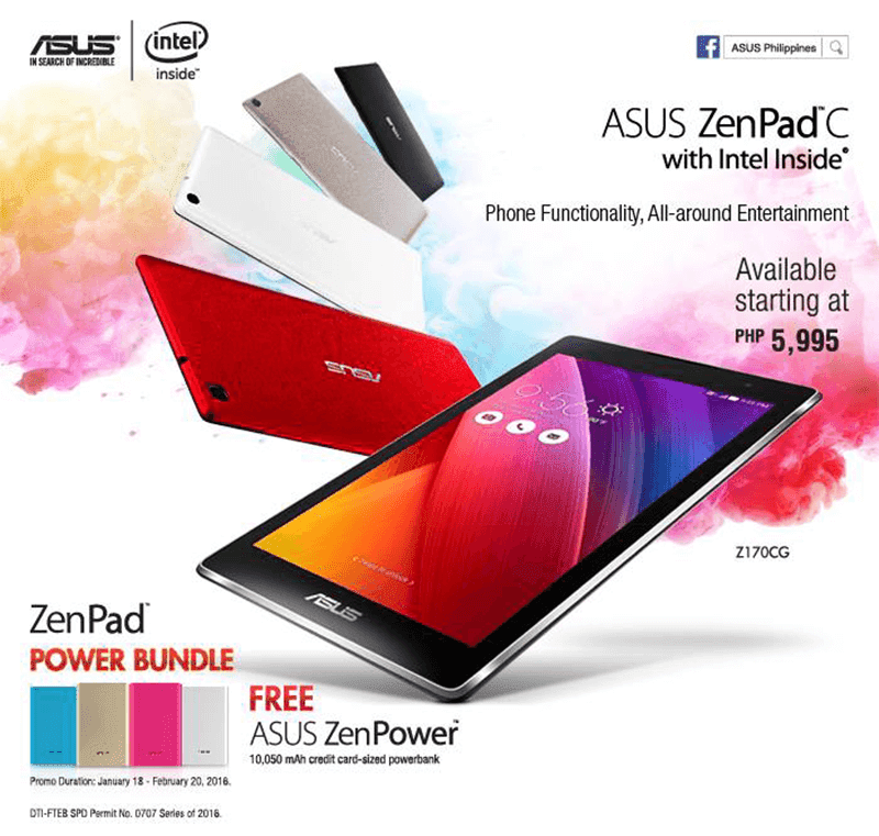 Asus ZenPad C and ZenPower 10050 mAh