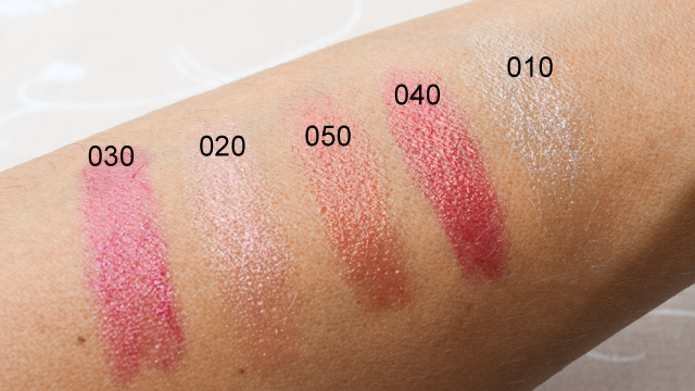 Pure Brilliants Colour Lip Balms swatch