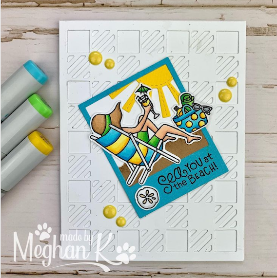 Sea you at the beach by Meghan K. features Summer Moments by Newton's Nook Designs; #inkypaws, #newtonsnook, #summercards, #cardmaking