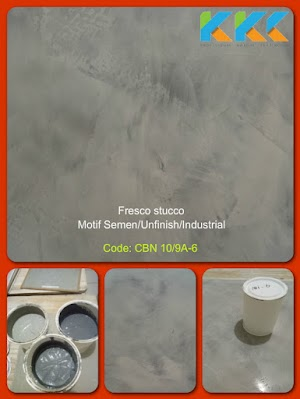 Jual Bahan Cat Fresco Stucco Motif Warna Semen