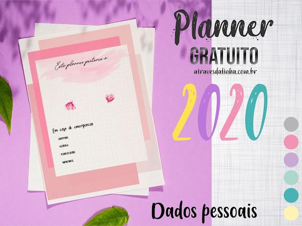 Planner 2020 #3: dados pessoais Download gratuito