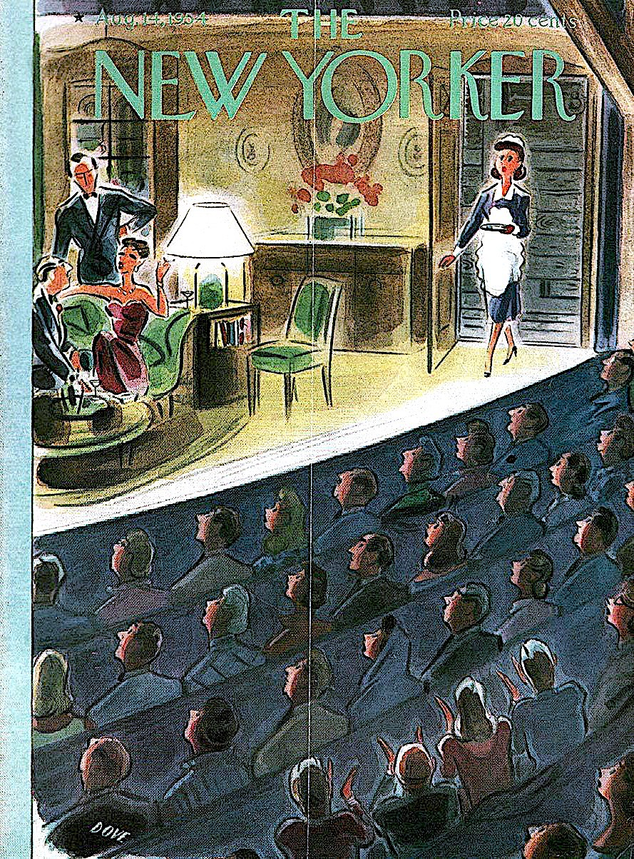 a Leonard Dove illustration for 1954 New Yorker Magazine