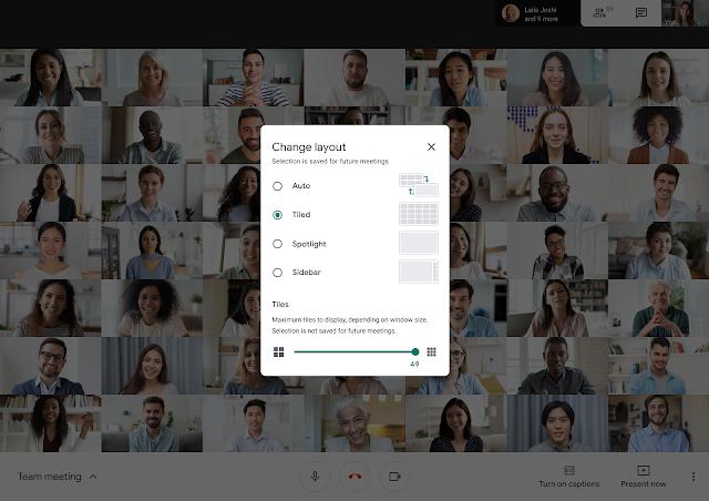 Jak ustawić podgląd użytkowników podczas wideokonferencji w Google Meet