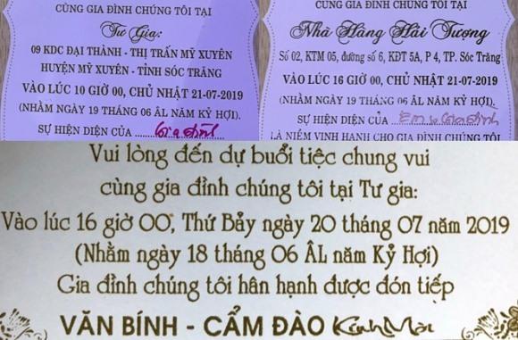 Có đến 4 tiệc rượu diễn ra trong 3 ngày tại lễ cưới con trai bà Hồ Thị Cẩm Đào. Nhiều xe biển số xanh, biển đỏ chở cán bộ đến chung vui với chủ hôn.