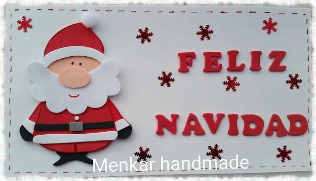 Cartel navideño para la puerta