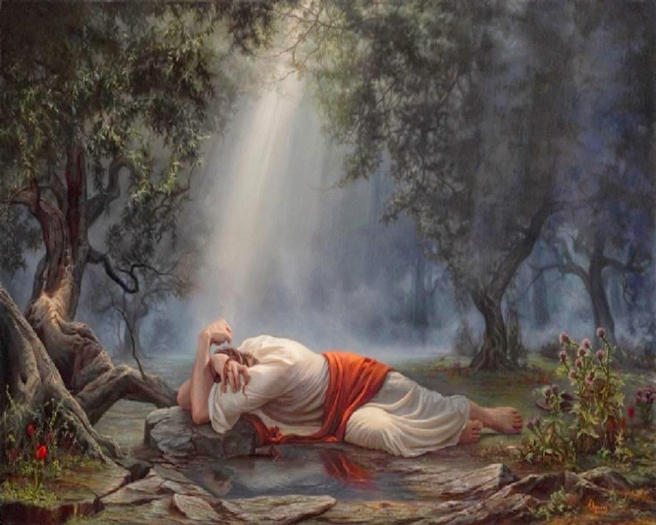 Word of truth lighthouse jesus 39 final week of work - Jesus in the garden of gethsemane ...