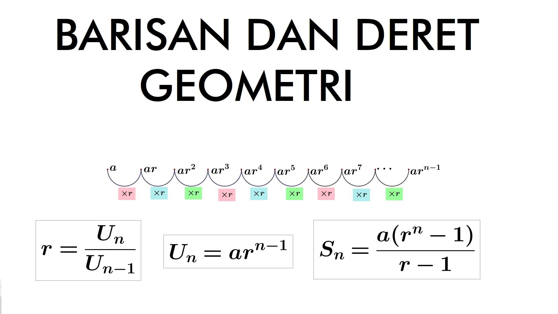 Belajar Barisan dan Deret Geometri