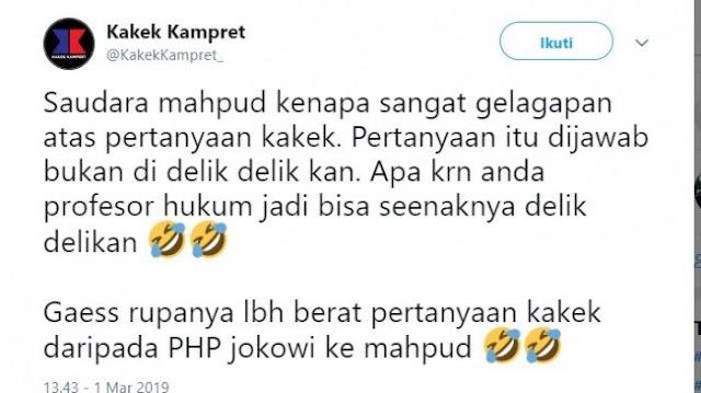 Reaksi Akun @KakekKampret_ setelah Cuitannya Dipolisikan Mahfud MD