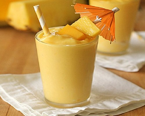 How to make smoothie pineapple and mango
