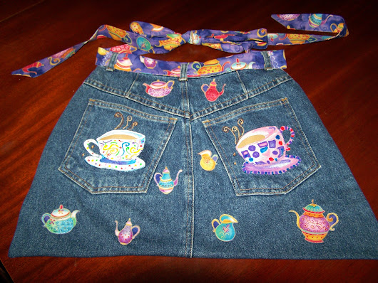 TEA FOR TWO JEAN APRON