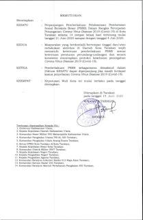 Perpanjangan Pemberlakuan PSBB  21 Juli - 04 Juli 2020 di Kota Tarakan - Tarakan Info