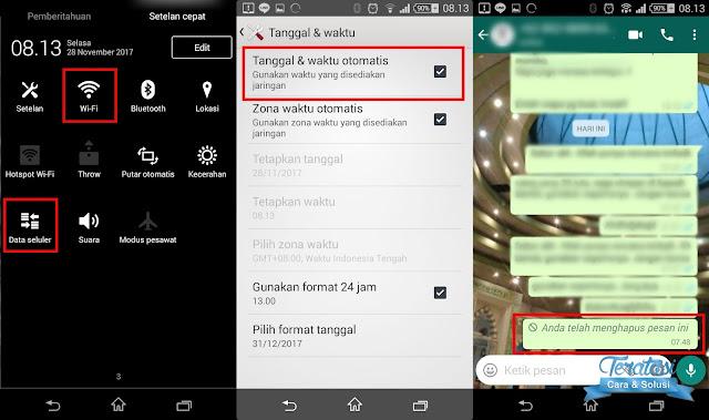 Pesan Whatsapp yang terkirim dalam jangka waktu lebih dari 7 menit telah berhasil dihapus - teratasi.com