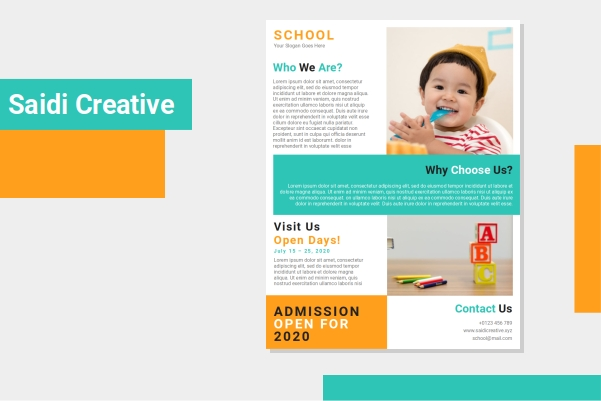 Free School Admission Flyer Template Word Document Fully Editable File