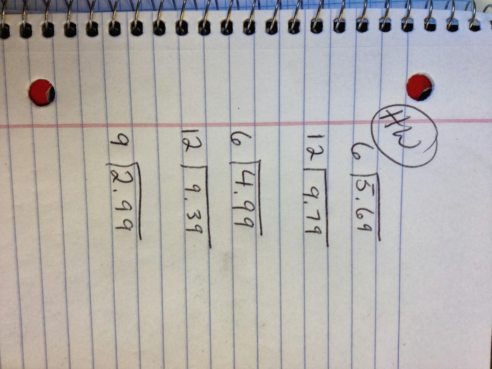 Homework 6th And 7th Grade Math Hw 9 19 13