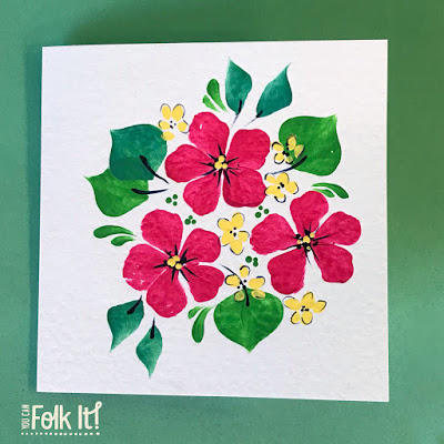 Using our Oriental Blossom kit, Carol has adapted the flower to create a more 'tropical' look and feel