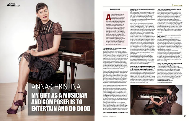 Anna-Christina interview feature in Global Woman Magazine image