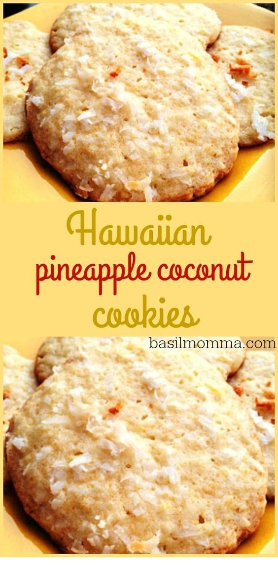 Hawaiian Pineapple Coconut Cookies