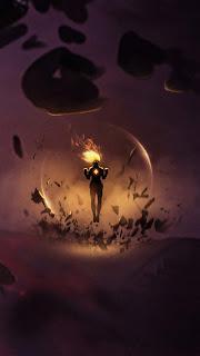 Captain Marvel On Fire Mobile Hd Wallpaper