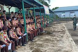 Usep Setiawan Buka Pramuka SKW Ternate di Kompi Khusus Yonif RK 732 Banau