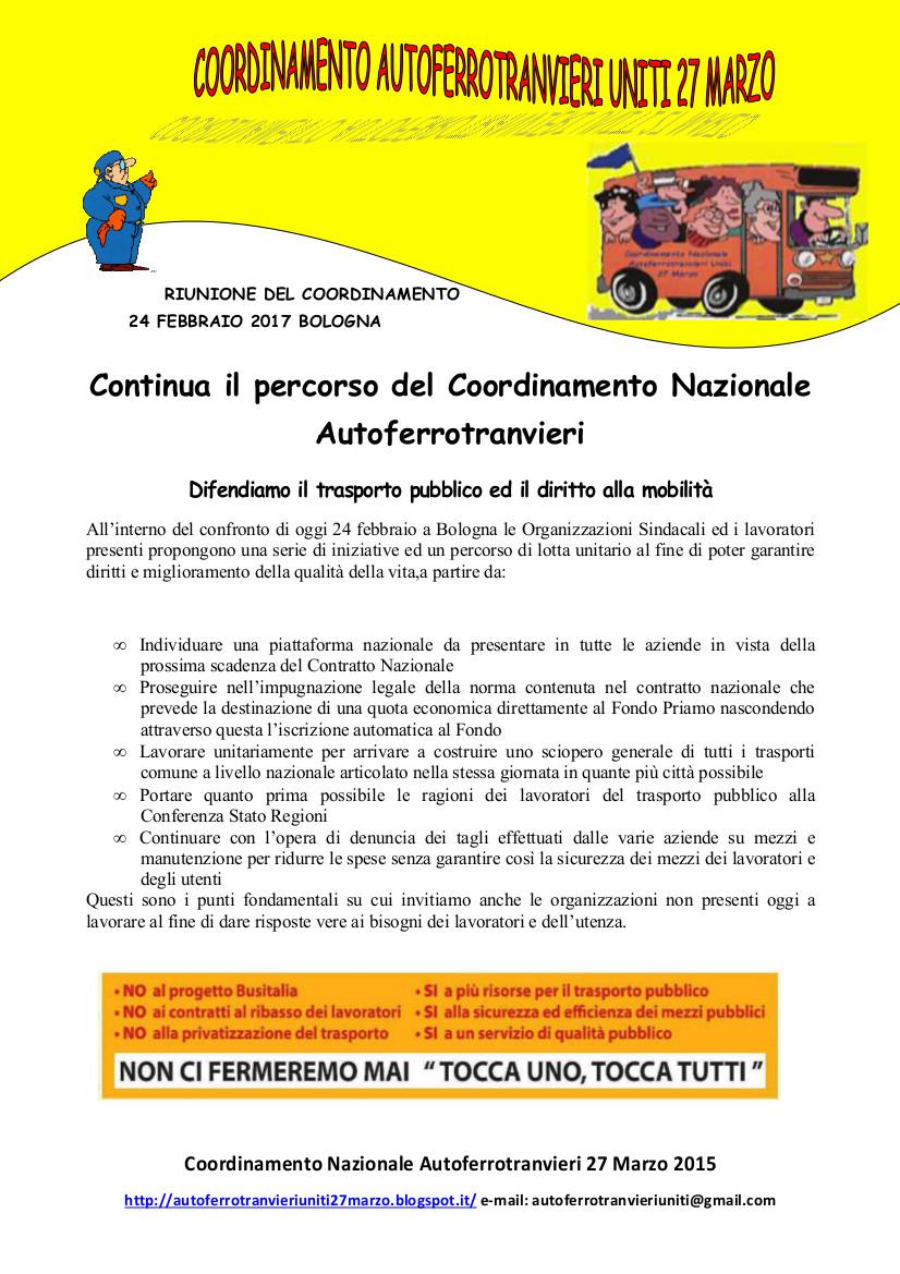 Autoferrotranvieri uniti marzo 2017 for Denuncia redditi 2017 scadenza