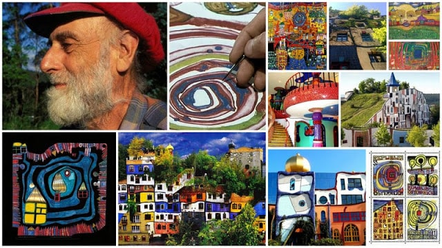 Hundertwasser-buildings-and-paintings
