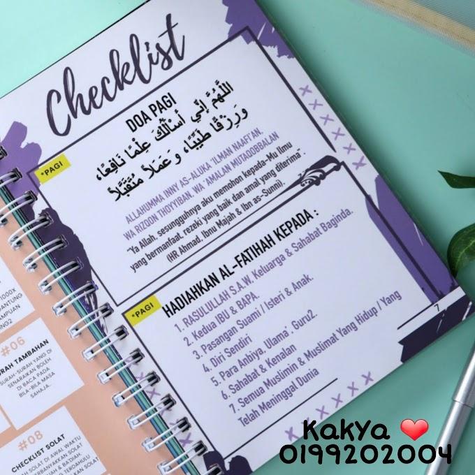 Buku Checklist Amalan Challenge 100 Days