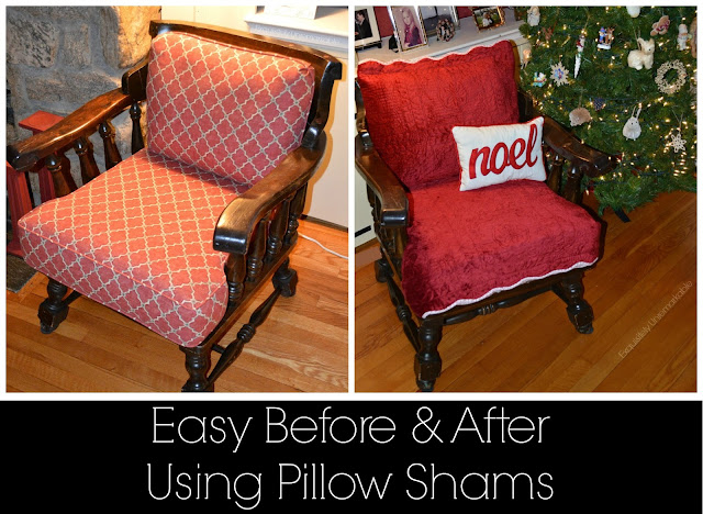 Easy Before and After Using Pillow Shams