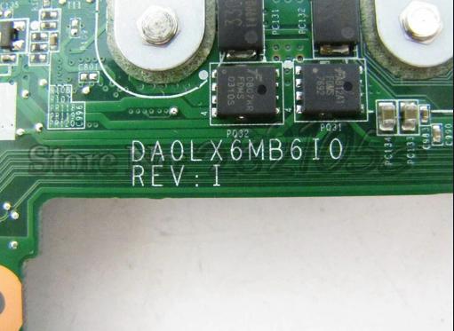 DA0LX6MB6I0  REV I HP DV6 Laptop Bios