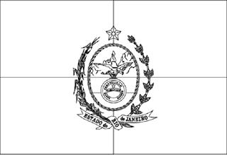 Desenho da bandeira Rio de de Janeiro