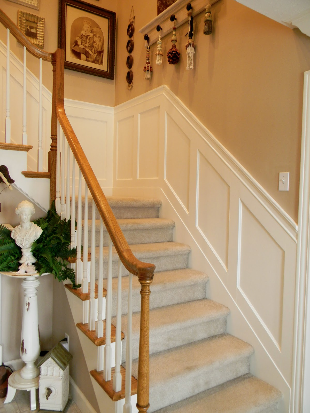 Paneled Staircase Forever Decorating Stairwell Wainscoting