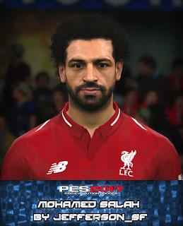 PES 2017 Faces Mo Salah by FaceEditor Jefferson_SF