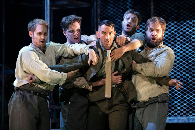 Weill: The Silver Lake -  David Horton, Jan Capinski, David Webb, Maciek O'Shea, Andrew Tipple  - English Touring Opera (photo Richard Hubert Smith)