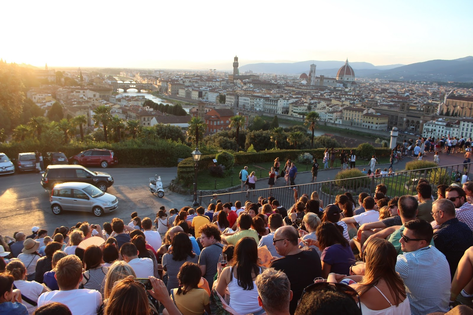 Florence Sunset View, Sunset Piazzale Michelangelo, Florence sunset Michelangelo, Best place to watch sunset in Florence