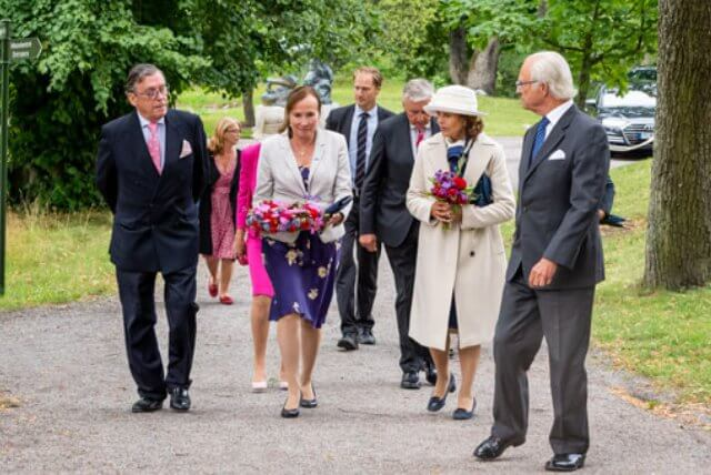 King Carl Gustaf and Queen Silvia attended the anniversary event of the Association of Friends of the Artists