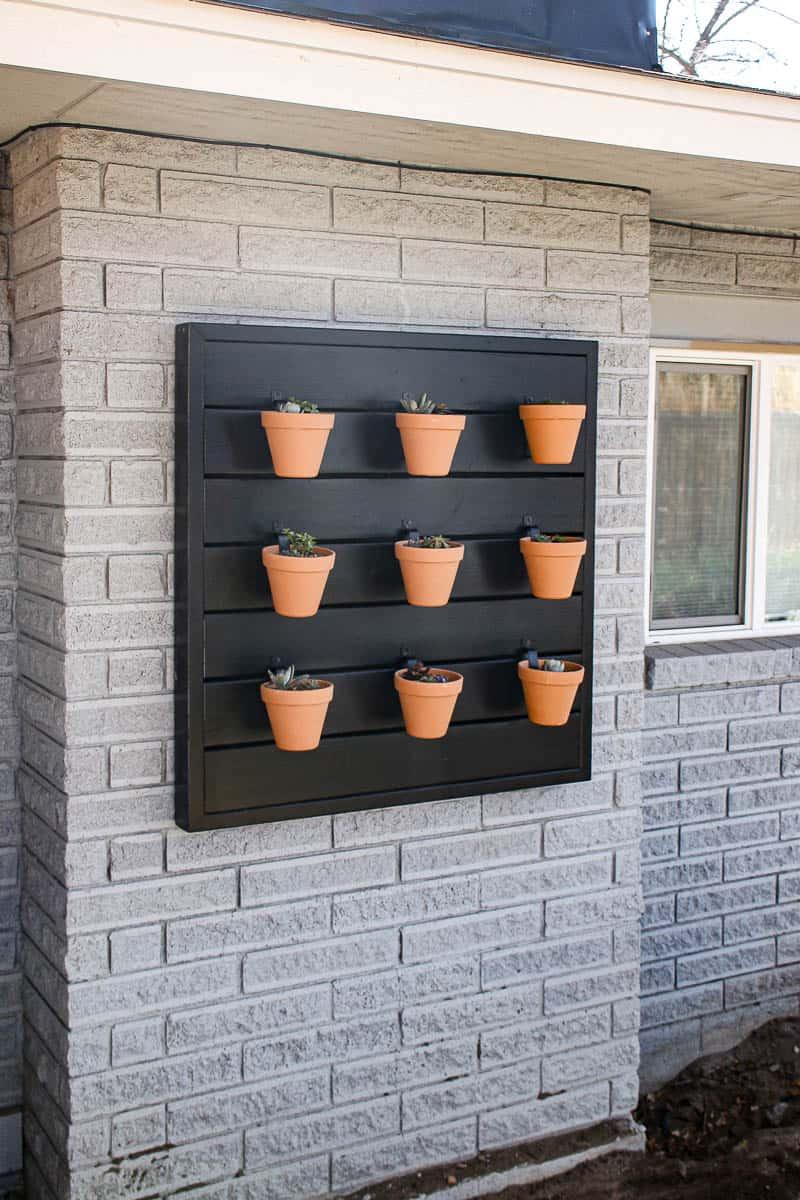 Modern planter wall outside