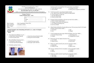 Soal Ulangan Harian IPA Kelas 5 semester 2
