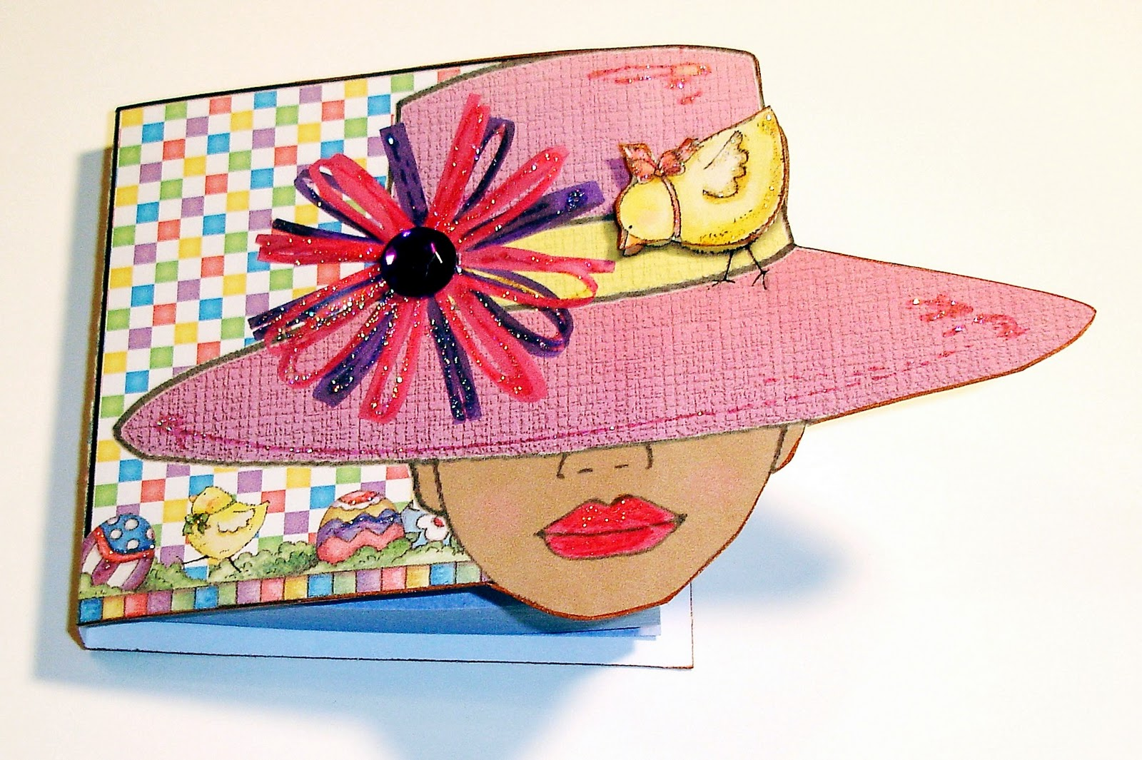 easter bonnets templates - lucine 39 s swing card and easter bonnet girls
