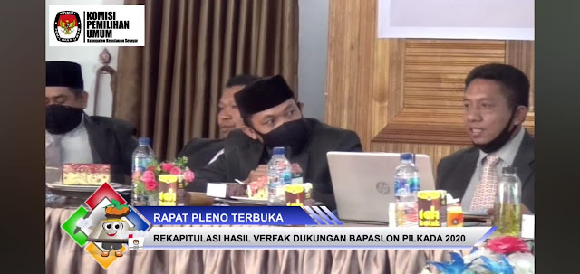 KPU Selayar Jadwalkan Tahapan Penyerahan Dokumen Perbaikan Dukungan Bapaslon Perseorangan