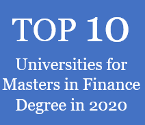Top 10 Universities for Masters in Finance Degrees in 2020