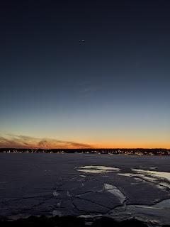 Frozen Sydney Harbour, Cape Breton Island