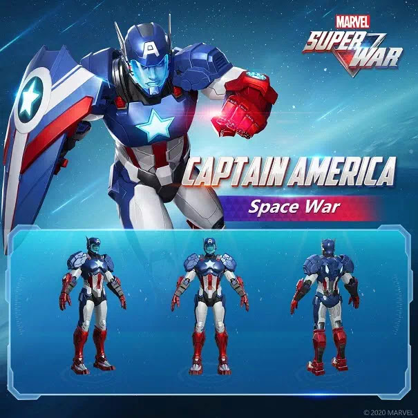 Finally, the Space War, the latest Epic Skin series will be released soon! Captain America and Black Panther will be the first to arrive in their Planet Shield costume. More about this new skin will be revealed shortly.