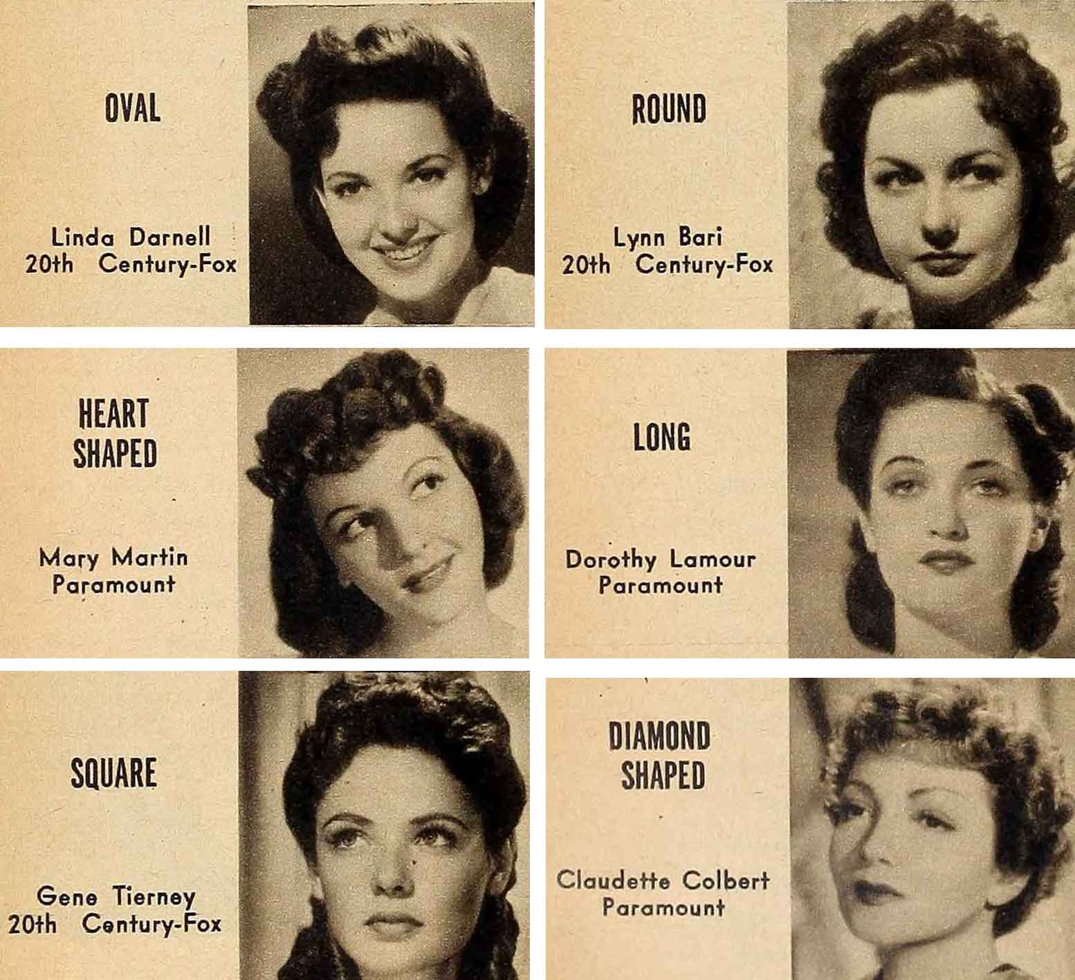 1940s Hair and Make-Up Secrets From Hollywood Stars for Your Face Type