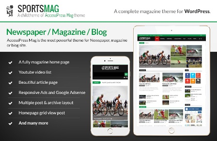SportsMag – WordPress Magazine Theme Free