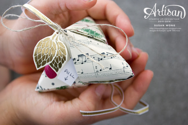 Origami Fortune Cookie / This Christmas DSP ~ Susan Wong